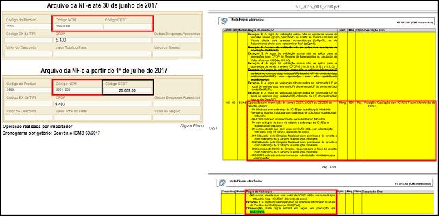 CEST – Informação na NF-e deve atender cronograma independentemente do início de validação 5