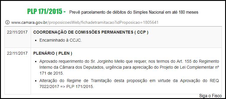 Simples Nacional: PLP 171/2015 prevê parcelamento de débitos em até 180 meses 4