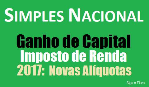 Simples Nacional: Ganho de Capital e as novas alíquotas do Imposto 4