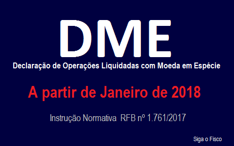 Receita Federal cria a DME 2
