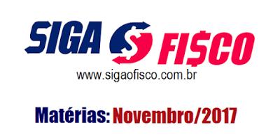 Siga o Fisco: Destaques de novembro/2017 2