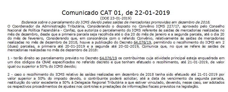 ICMS - Governo paulista perde prazo para autorizar parcelamento do imposto 4