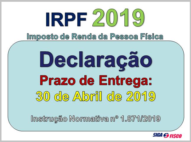 IRPF 2019: Receita Federal publica regras da declaração 2