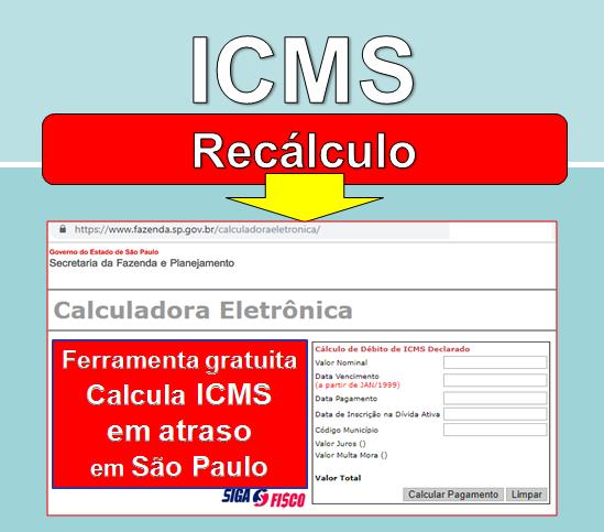 Calculadora Eletrônica atualiza ICMS em atraso em SP 1
