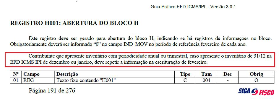 Inventário de dezembro deve ser informado na EFD-ICMS/IPI de fevereiro 5