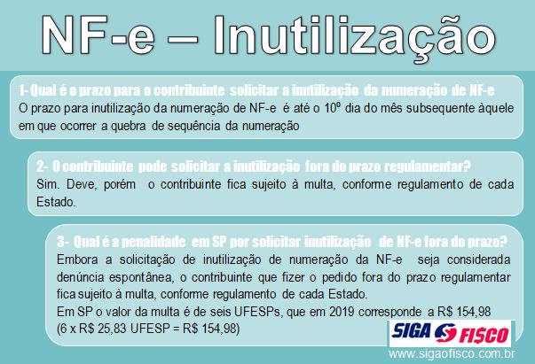NF-e – Inutilização fora do prazo regulamentar 6