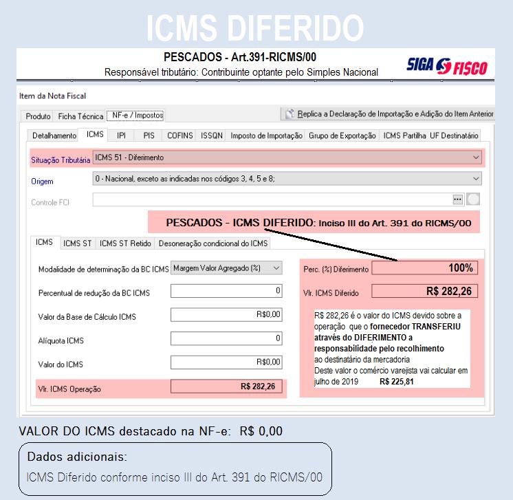 ICMS DIFERIDO sobre pescados: Ação do Fisco paulista gera polêmica 3