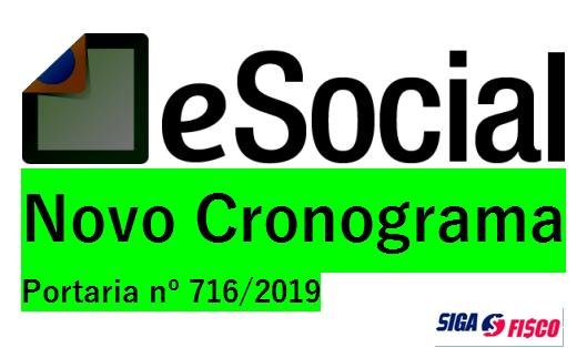 eSocial – Portaria 716 Oficializa Novo Cronograma 1