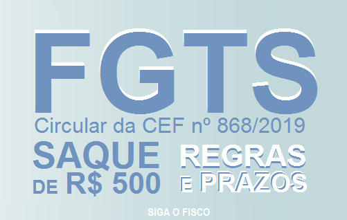FGTS: Regras e prazos para SAQUE dos 500 Reais 1