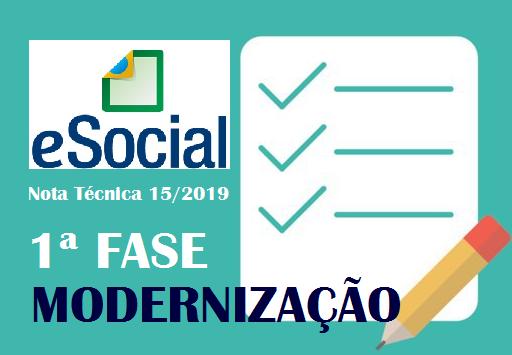 eSocial –  Modernização é oficializada pela Nota Técnica 15/2019 1