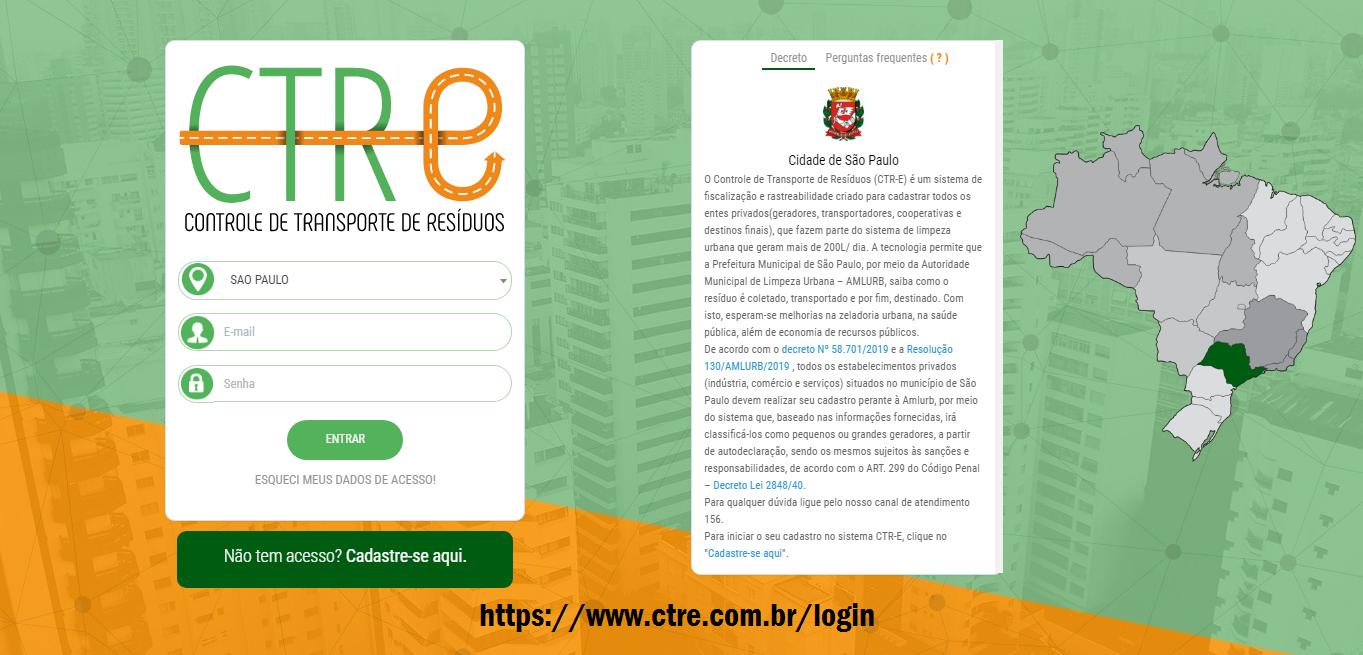 CTR-E: AMLURB exige cadastro de empresas do Município de São Paulo 2