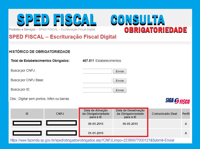 EFD-ICMS/IPI: Transmissão do arquivo depende de atualização do cadastro 4