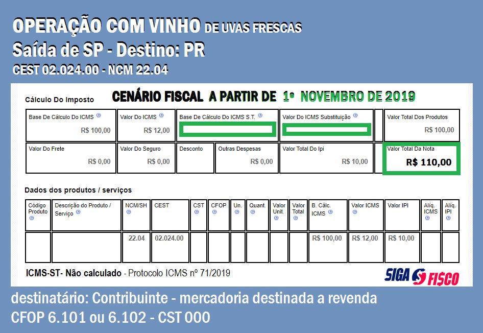 ICMS-ST não será calculado nas operações com Vinhos destinadas ao Paraná 3