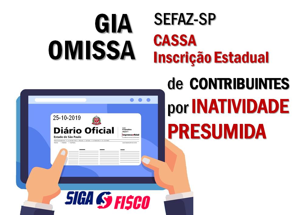ICMS: Omissão da GIA provoca Cassação de Inscrição Estadual em São Paulo 2