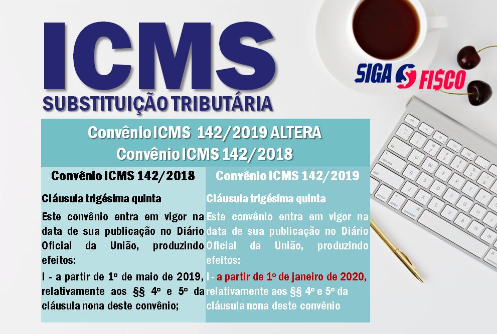 ICMS-ST: Confaz adia para 2020 regra do Convênio ICMS 142/2018 4