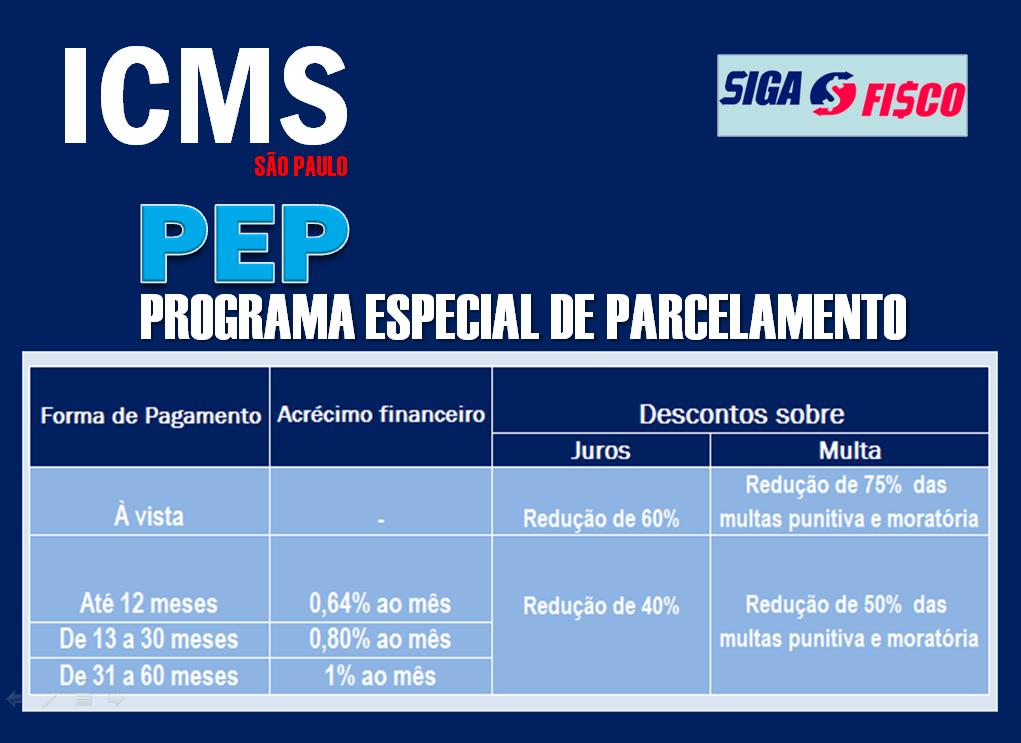 PEP: Débitos de ICMS em SP podem ser parcelados em até 60 meses com redução de juros e multa 3