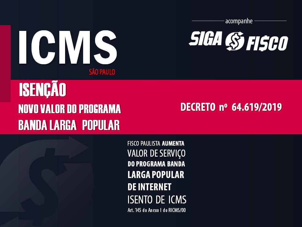 SP altera valor de serviço de internet isento de ICMS 1