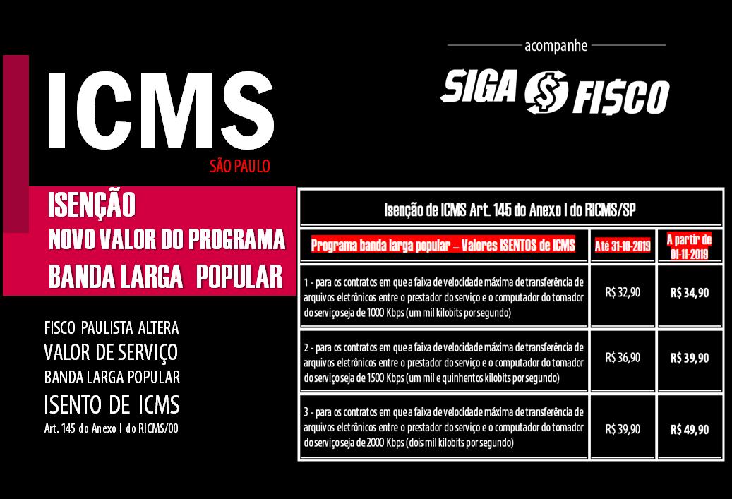 SP altera valor de serviço de internet isento de ICMS 2