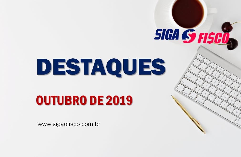 Destaques de Outubro de 2019 do Portal Siga o Fisco 1