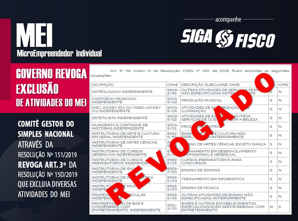 Governo volta atrás e REVOGA dispositivo que excluía atividades do MEI 2
