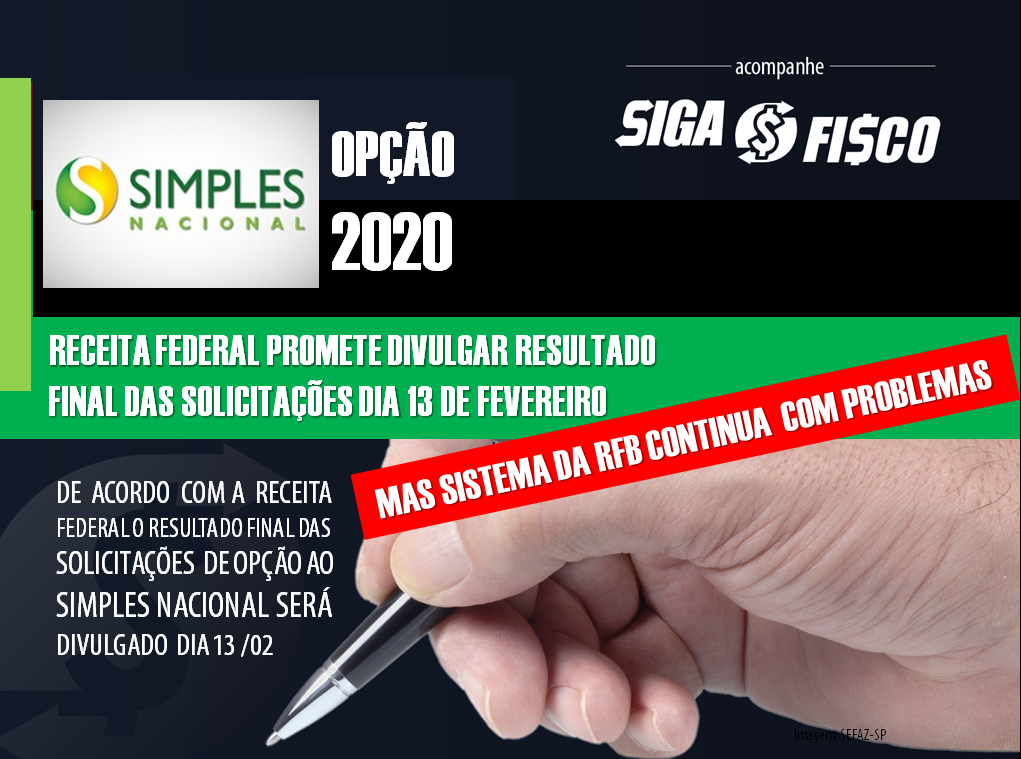 Simples Nacional 2020: Receita promete divulgar resultado final das solicitações dia 13, mas sistema continua com problemas 1