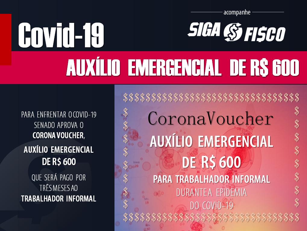 Covid-19: Trabalhador informal vai receber R$ 600 durante três meses 1