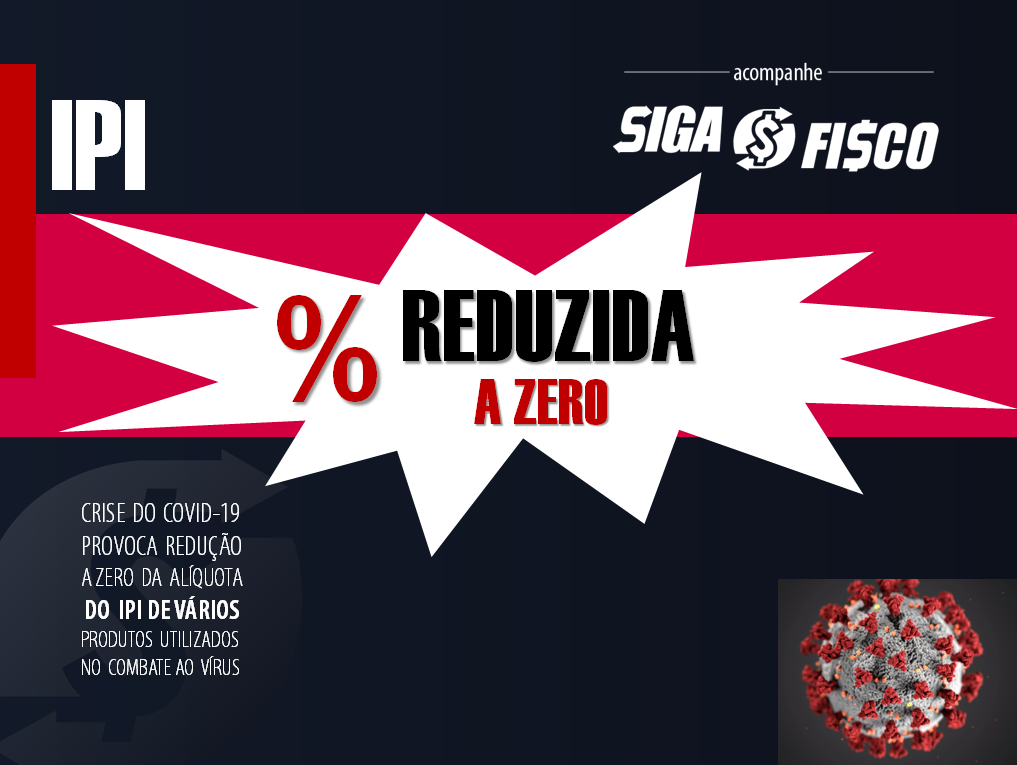 IPI: Governo Federal reduz à zero alíquota de vários produtos 1