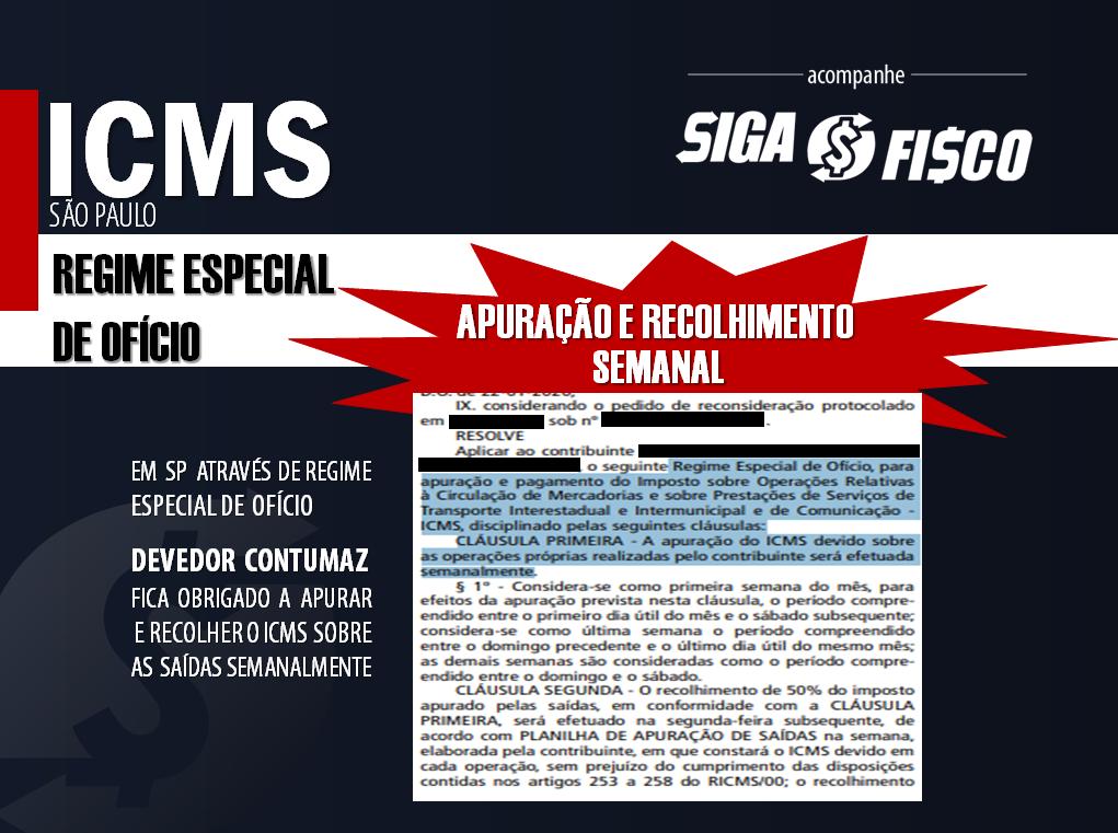 ICMS: SP impõe ao Devedor Contumaz recolhimento semanal do imposto 1