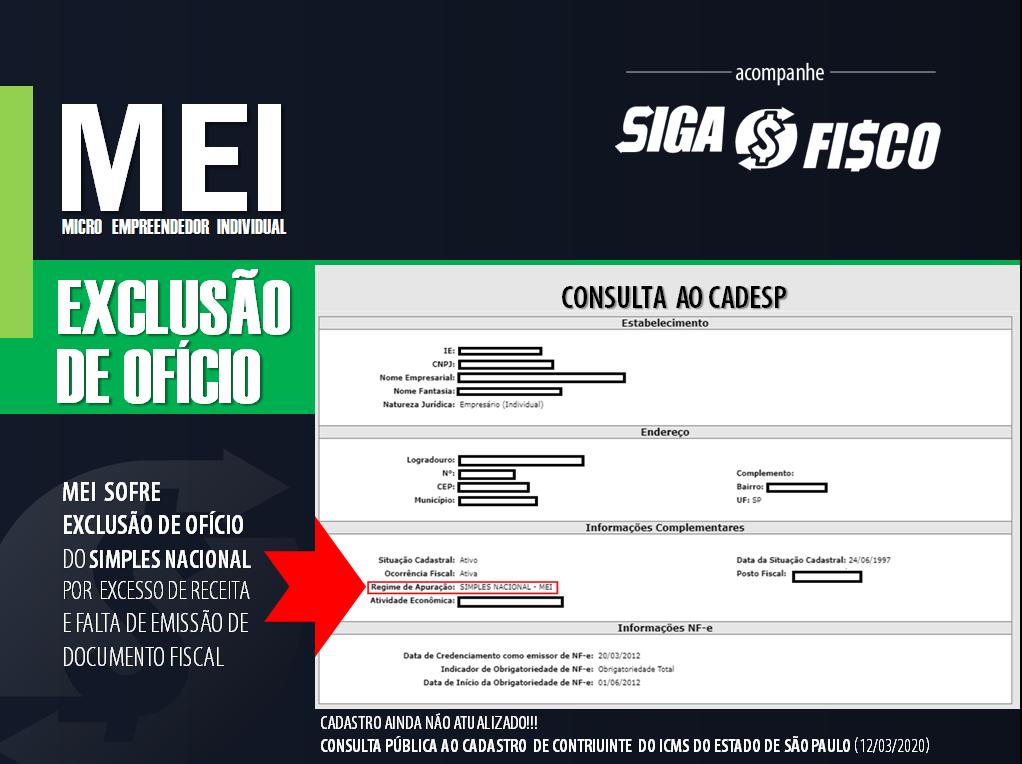 SP exclui empreendedor do MEI por excesso de receita e falta de emissão de NF 5