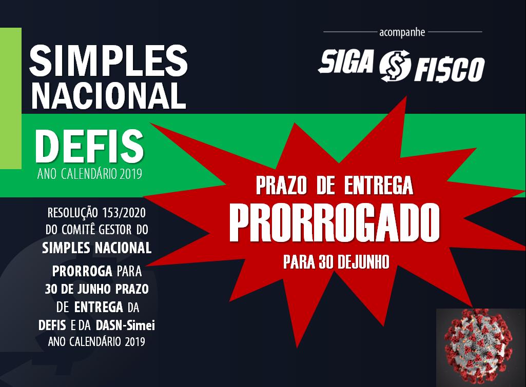 Simples Nacional: Fisco prorroga prazo de entrega da Defis referente 2019 1