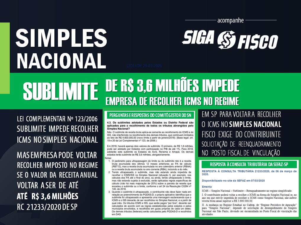 ICMS: Reenquadramento do contribuinte paulista no Simples Nacional depende de solicitação 2