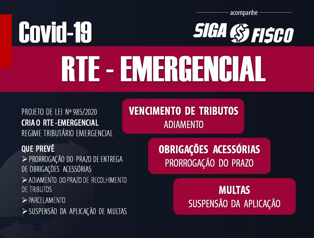 PL 985/2020 Institui Regime Tributário Emergencial 1