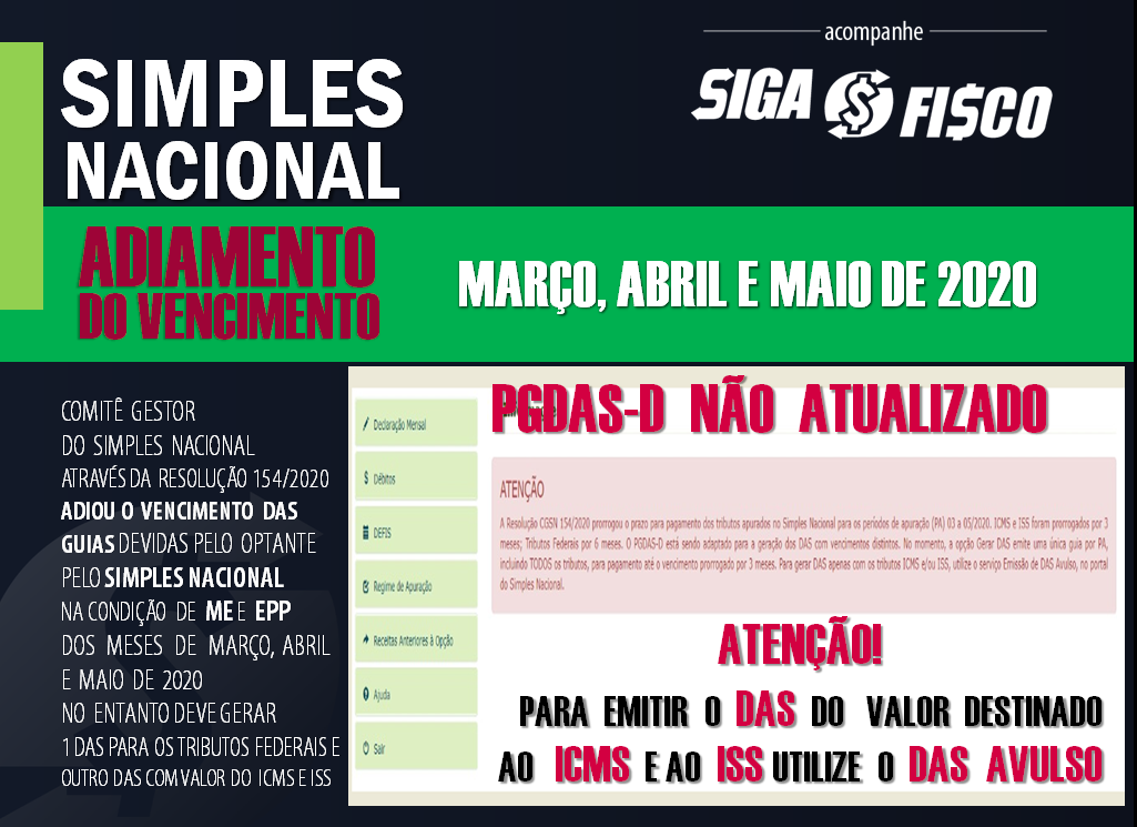 Simples Nacional: Governo adia vencimentos de março, abril e maio de 2020 5