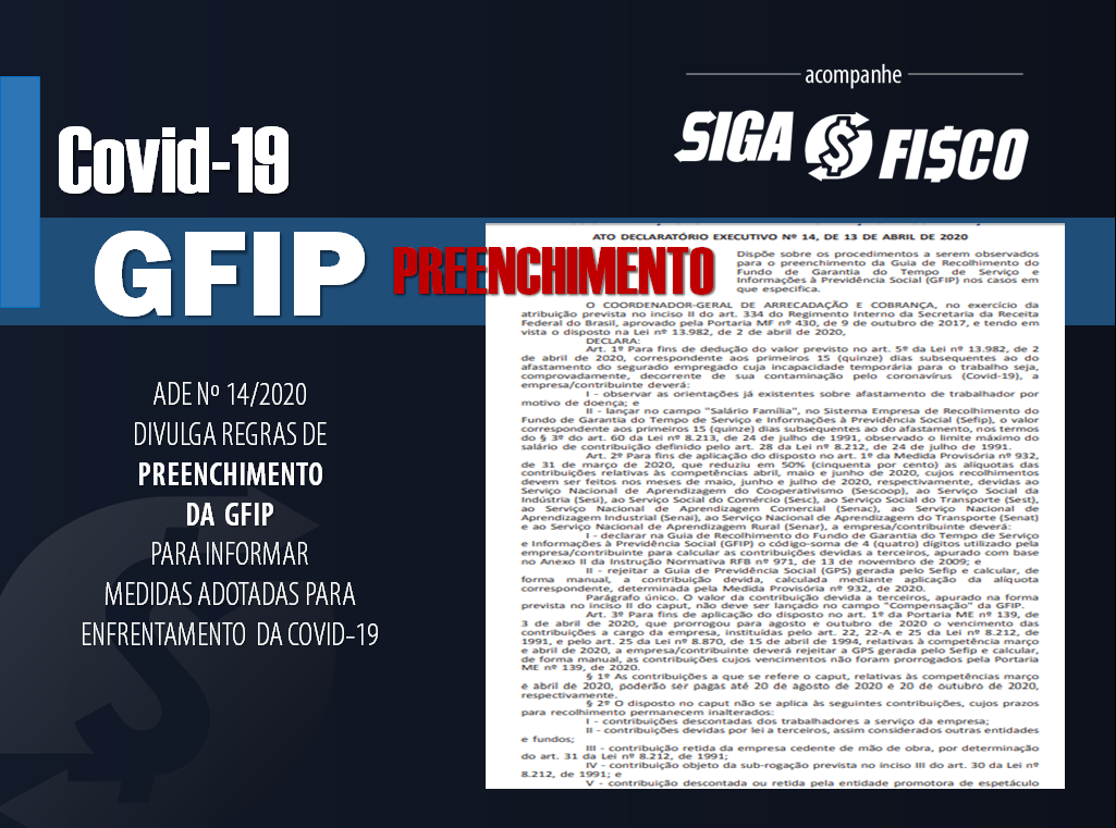 Covid-19: Receita divulga regras de preenchimento da GFIP 1