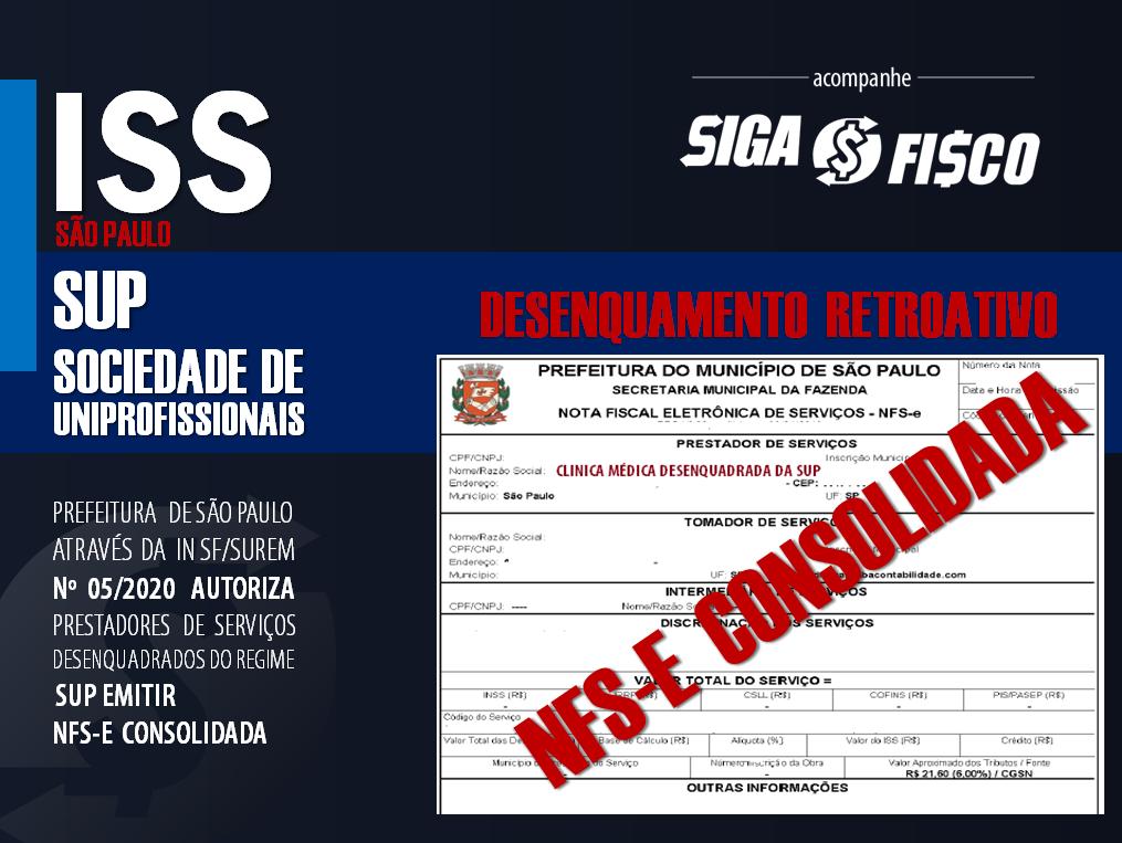 SUP: Prestadores de serviços desenquadrados poderão emitir NFS-e consolidada 1