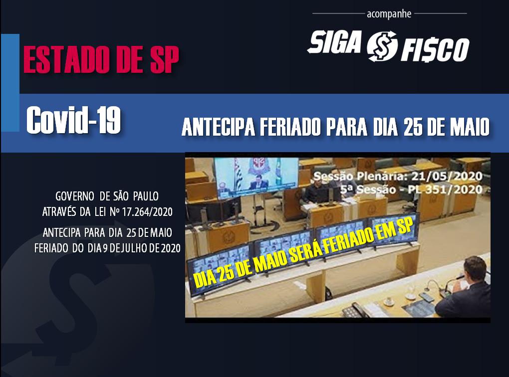 São Paulo: Segunda-feira dia 25 de maio será feriado em todo Estado 1