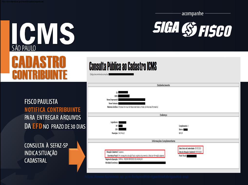 EFD-ICMS: Falta de entrega provoca Notificação em SP 3