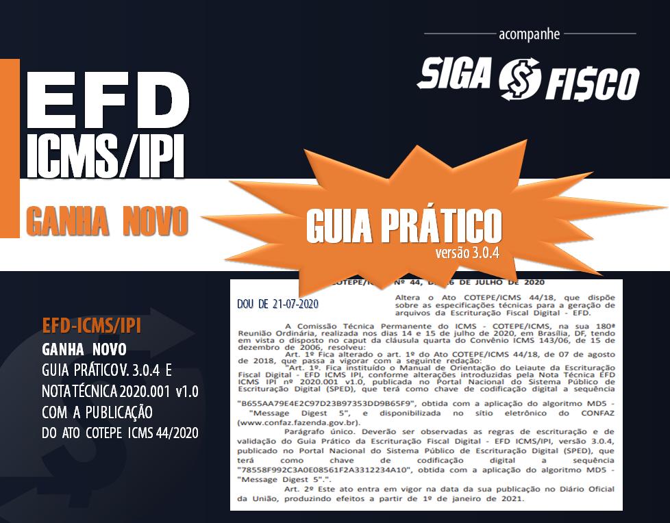 EFD-ICMS/IPI Ganha Novo Guia Prático Versão 3.0.4 1