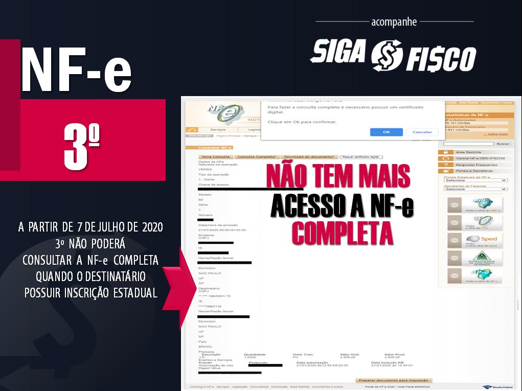 NF-e: Dados serão protegidos pela LGPD e não poderão ser acessados por 3º 3