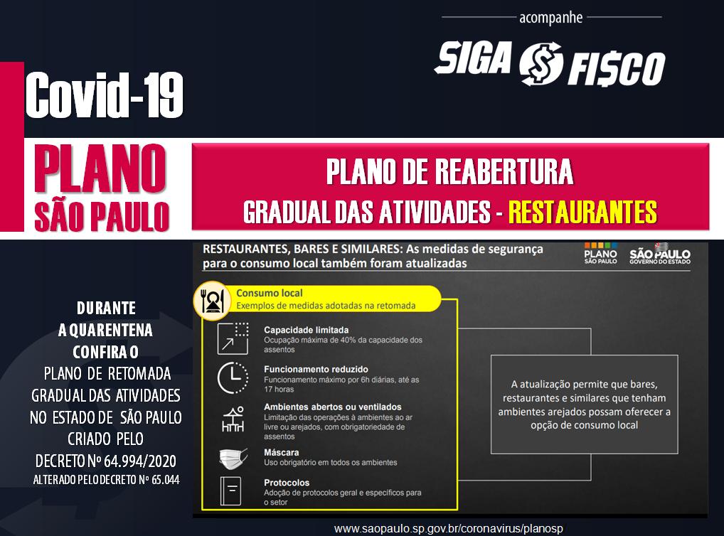 Covid-19: Estado de São Paulo avança no Plano de Retomada Gradual das atividades 19