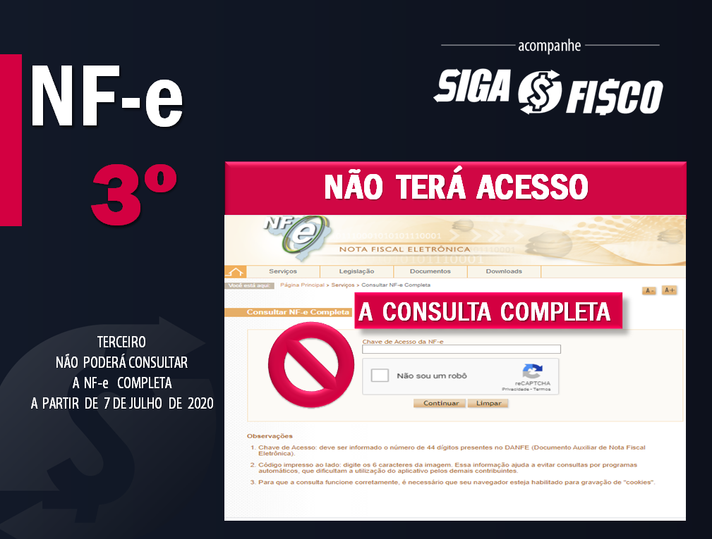 NF-e: Regras de acesso em Descompasso 7
