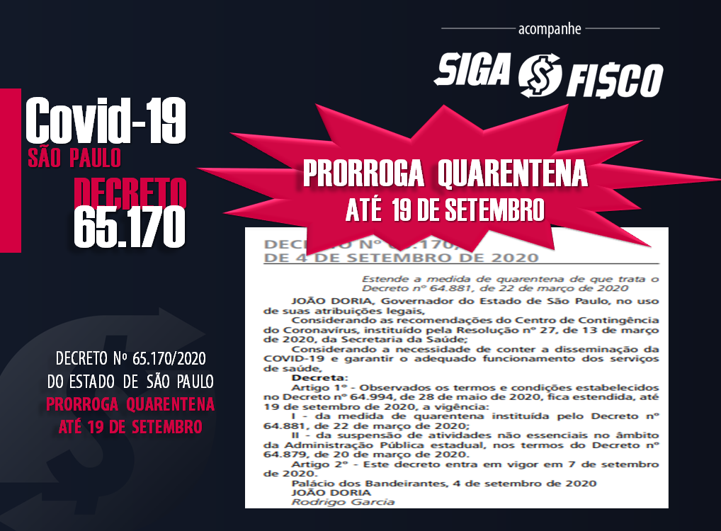 Covid-19: SP estende quarentena até dia 19 de setembro 1