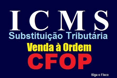 ICMS/SP – CFOP na Operação de Venda à Ordem sujeita à Substituição Tributária 2