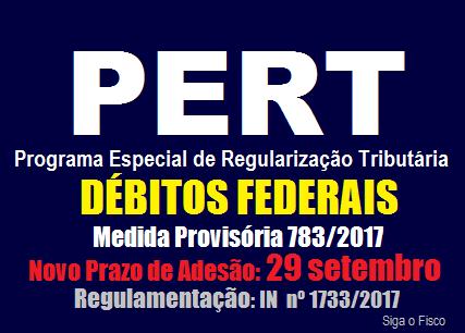 PERT – Receita Federal regulamenta prorrogação do prazo de adesão ao programa 2