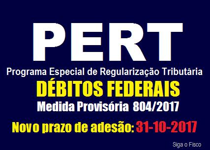 PERT – Prazo de adesão é prorrogado para 31/10 2