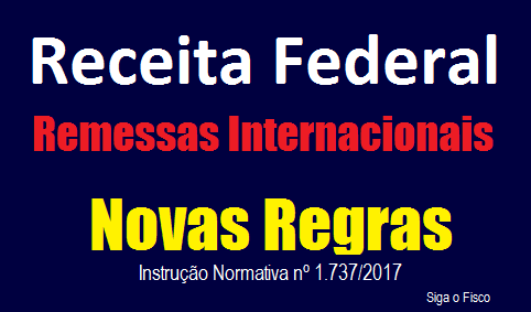 Remessas Internacionais: Receita publica novas regras 2