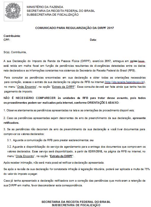 DIRPF: Contribuintes podem se autorregularizar 4