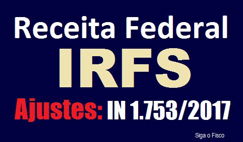 IRFS - Receita Federal regulamenta ajustes 2