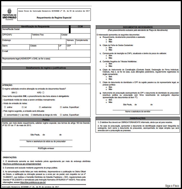 ISS – São Paulo institui procedimentos para solicitar Regime Especial 4
