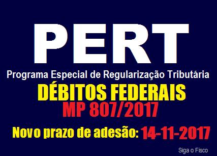 PERT: Governo prorroga para dia 14 de novembro o prazo de adesão ao programa 2